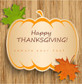 Thanksgiving card this is file of eps format Royalty Free Stock Photo