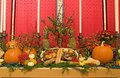 Thanksgiving church altar Stock Image