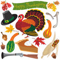 Thanksgiving clipart icons Stock Photo
