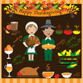 Thanksgiving collection Royalty Free Stock Photo