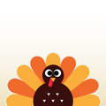 Thanksgiving colorful turkey happy day card with copyspace vector illustration Royalty Free Stock Photos