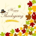 Thanksgiving day background easy to edit vector illustration of with maple leaves Royalty Free Stock Image