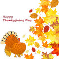 Thanksgiving day background with maple leaves all objects are separated vector illustration eps Royalty Free Stock Photo