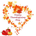 Thanksgiving day background with maple leaves all objects are separated vector illustration with transparency eps Royalty Free Stock Images