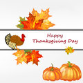 Thanksgiving day background with maple leaves all objects are separated vector illustration with transparency eps Stock Image