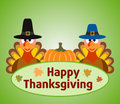 Thanksgiving day background with turkey and pumpk pumpkin vector Stock Image