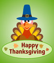 Thanksgiving day background with turkey vector Royalty Free Stock Photo