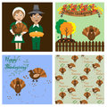 Thanksgiving day collection Royalty Free Stock Photo