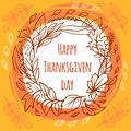 Thanksgiving day concept background, hand drawn style