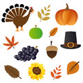 Thanksgiving day icons Royalty Free Stock Photo