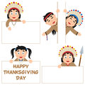 Thanksgiving Day Native and Banners Set Royalty Free Stock Photo