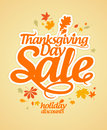 Thanksgiving Day sale. Stock Image