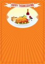 Thanksgiving day vertical background template Royalty Free Stock Photography