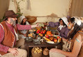 Thanksgiving dinner table Royalty Free Stock Photo