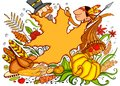 Thanksgiving Doodle Royalty Free Stock Image
