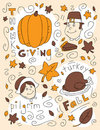 Thanksgiving Doodle Royalty Free Stock Photography