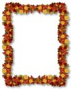 Thanksgiving Fall Leaves Frame Royalty Free Stock Photos