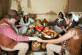 Thanksgiving family and indian Royalty Free Stock Photo