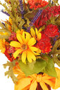 Thanksgiving flowers over white Royalty Free Stock Photo