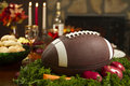 Thanksgiving Football Pigskin Turkey Dinner Stock Photo