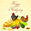 Thanksgiving harvesting festival easy to edit vector illustration of Stock Images