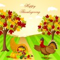 Thanksgiving harvesting festival easy to edit vector illustration of Stock Image