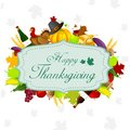 Thanksgiving harvesting festival easy to edit vector illustration of Royalty Free Stock Photo