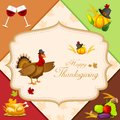 Thanksgiving harvesting festival easy to edit vector illustration of Royalty Free Stock Photos