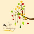 Thanksgiving harvesting festival easy to edit vector illustration of Royalty Free Stock Image