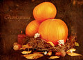 Thanksgiving holiday greeting card Stock Image