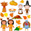 Thanksgiving icon set Royalty Free Stock Photography