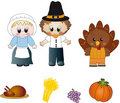 Thanksgiving icons Stock Images