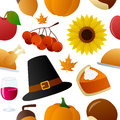 Thanksgiving icons seamless pattern a with colorful day on white background eps file available Royalty Free Stock Images