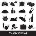 Thanksgiving icons set eps10