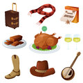 Thanksgiving icons a vector illustration of icon sets Stock Photos