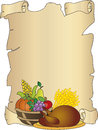 Thanksgiving illustration for with turkey and fruits Royalty Free Stock Photo