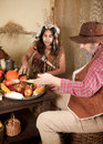 Thanksgiving indian Royalty Free Stock Photo