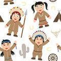 Thanksgiving Native Seamless Pattern Royalty Free Stock Photo
