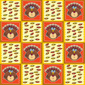 Thanksgiving Pattern Stock Photography