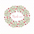 Thanksgiving postcard with small flowers Royalty Free Stock Photo