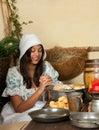 Thanksgiving praying girl Royalty Free Stock Photo