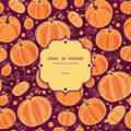 Thanksgiving pumpkins frame seamless pattern vector background with hand drawn elements Royalty Free Stock Photo
