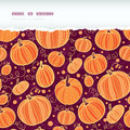 Thanksgiving pumpkins horizontal torn seamless vector pattern background with hand drawn elements Stock Photos