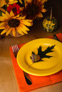 Thanksgiving serving table party for a dinner Royalty Free Stock Images