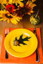 Thanksgiving serving table party for a dinner Royalty Free Stock Photography