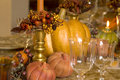 Thanksgiving Table Detail Stock Photos