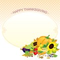 Thanksgiving Template Vector Royalty Free Stock Image