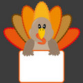 Thanksgiving turkey with banner