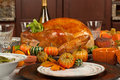 Thanksgiving turkey and green beans Royalty Free Stock Photography
