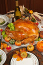Thanksgiving turkey and green beans Stock Images